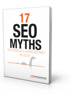 A cover image of our Free eBook: 17 SEO Myths you should leave behind in 2015