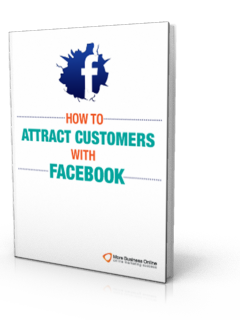 A cover image of our free ebook: How to Attract Customers with Facebook