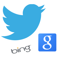 Make sure that your Twitter profile is prominent for your key search terms