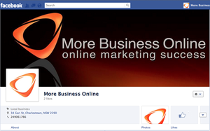 The More Business Online Facebook page in the new timeline view