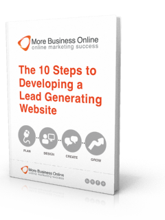 eBook cover image The 10 Steps To Developing a Lead Generating Website