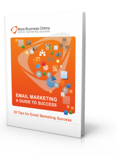Cover image of our free eBook: Email Marketing - A Guide To Success