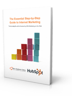 A cover image of our Free eBook: The Essential Step-by-Step Guide to Internet Marketing