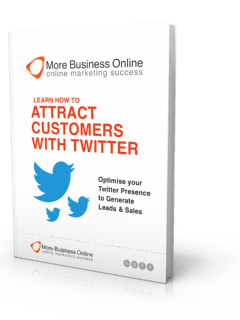 A cover image of our Free eBook: How To Attract Customers With Twitter