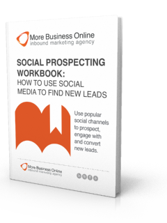 A cover image of our free Social Prospecting Workbook - How to Use Social Media to Find New Leads