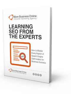 A cover image of our Free eBook: Learning SEO from the Experts