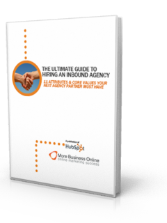 A cover image of our Free eBook: The Ultimate Guide to Hiring an Inbound Agency