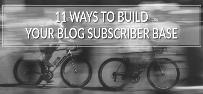 The larger the base of subscribers, the better your odds of converting customers and attracting leads