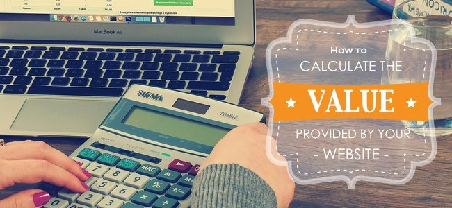 How to calculate the value provided by your website
