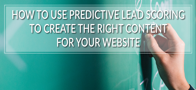 It really is quite incredible how much impact the predictive lead scoring tool can have on the rest of your marketing strategy. It's a good thing.