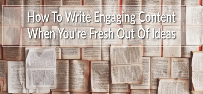 Writing when you don't know what to write can be hard yakka. Which is why I wrote this article for you.
