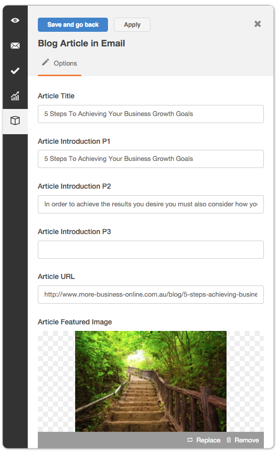 Our custom modules allow you to enter your complex content into a simple form